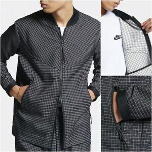 Nike Sportswear Tech Pack Grid Jacket Full-Zip AR1578-010 Black & White NEW $160