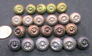 Large Lot Antique Buttons Dome Tops Several Colors