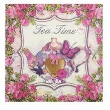 Vintage Napkins Paper Tissue Tea Time Decoupage Wedding Birthday Party Dinner