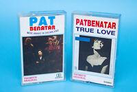 Thomsun Original PAT BENATAR Wide Awake in Dreamland / True Love Cassette Tapes