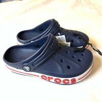 "Crocs Crocband II Kids Slip On Clogs Navy Blue Red ""Crocs"" Boys&Girls Crocs Kids"
