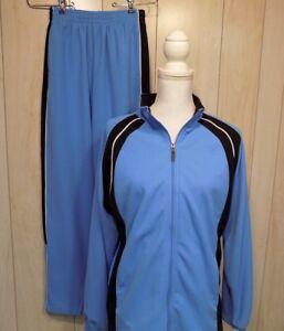 Augusta Sportswear Track Suit Size Youth L Blue Performance Moisture Management
