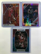 2019-20-21 James Harden Lot (3) Mosaic Red Hoops Teal Explosion Optic Pink