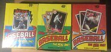 UNOPENED Wax Box Of 1986, 1987, 1988 Topps Baseball Cards. 36 Packs Per Box