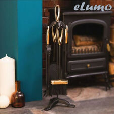 5pc Fire Companion Set Fireside Fireplace Tools Home Gift Present Unique Cool Uk