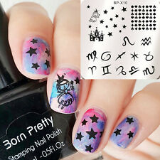 BORN PRETTY Nail Art Stamp Template Square Zodiac Image Stamping Plates BP-X10