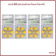 Lot de 24 piles boutons auditives A10 Power One, livraison rapide et gratuite