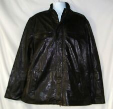 Men's Black Leather Jacket Size XL NWOT Nautica