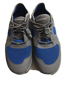 Simms Currents Boat Men Shoes Grey And Blue US12 UK11 EUR45