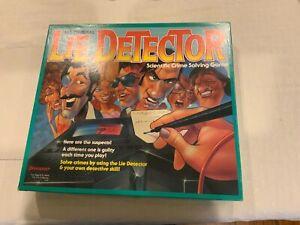 Vintage The Original Lie Detector Board Game 1987 Pressman Mattel COMPLETE VGUC