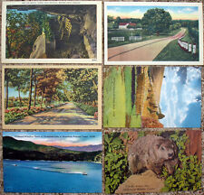 LOT OF 21 SCENIC LINEN POSTCARDS - UNUSED - NEAR MINT TO MINT!!