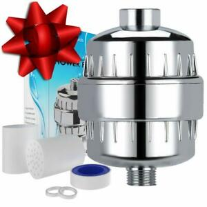 Natural Rapids Classic Storm Multi-Stage Shower Filter Chrome + Extra Cartridge