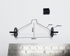 136d: 1x Mini Landing Gear 25x 50mm(HxW)Wheels, Parts for mini RC Airplane