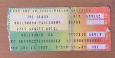 1982 THE CLASH HOLLYWOOD CONCERT TICKET STUB LONDON CALLING COMBAT ROCK TOUR 614