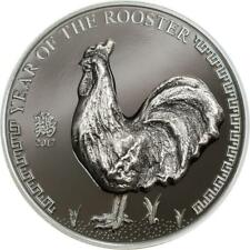 Mongolia 2017 Year of the Rooster 500Togrog 25 g Silver proof Coin