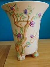 More details for clarice cliff cherry tree design vase - art deco - excellent condition