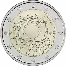 """Lithuania 2 euro coin 2015 """"EU Flag"""" UNC"""