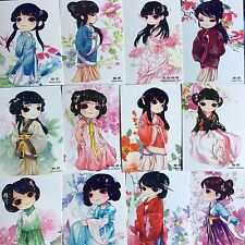 LOT 16PCS Postcard Chinese Ancient Costume Cartoon Skirts Set Bulk #42
