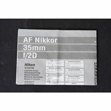 Nikon AF Nikkor 35mm f/2D Bedienungsanleitung / Anleitung