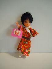 VERY NICE VINTAGE JAPAN AIRLINE STEWARDESS DOLL : GOOD CONDITION FOR HER AGE ! !