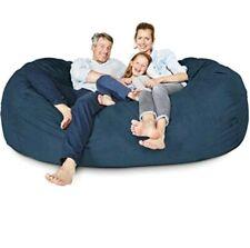 BIG FRANK Living room Home decor Furniture NAVY BLUE 7 ft Bean bag :COVER ONLY