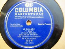 1937 First Rec' Charles Trenet French Chanson Je Chante/ Fleur Bleue