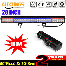 28INCH 180W Cool White Led Work Light Bar SPOT FLOOD COMBO Offroad SUV