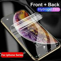 For Apple iPhone 11 Pro Max XS Front+Back Hydro Gel Screen Protector Cover Guard