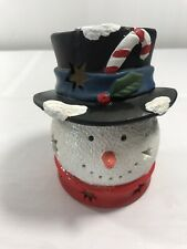 Snowman Luminary Holiday Tea Light Candle Holder Christmas Holiday Decoration