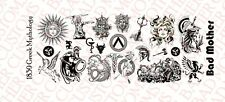 1/18 Scale Waterslide Decal Tattoos for Action Figure tattoos: Greek Mythology