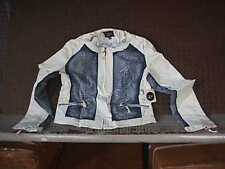 Ladies/Juniors Denim Jacket w/ WHITE Design {Luii} S SMALL NEW #J1133DOU 20743