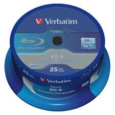 Blu-ray BD-R SL 25GB 6X Verbatim Datalife Tarrina 25 uds