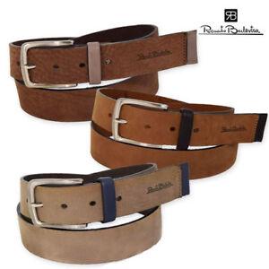 RENATO BALESTRA Cintura Cinta Uomo 100% Vera Pelle Made In Italy 4 x 120 cm