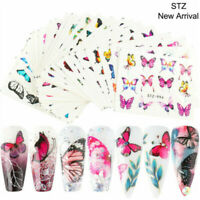 3D Nail Art Transfer Stickers 30 Sheets Flower Decals Manicure Decoration Tip AU