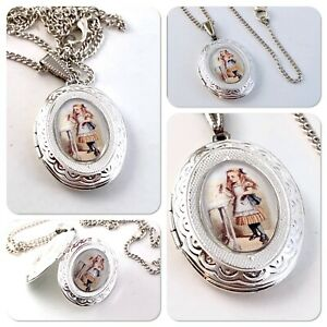 Alice in wonderland Alice drink me necklace LOCKET