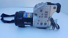 sony mvc-fd97 2.1mp 20x zoom floppy mem card digital camera charger lanyard lens