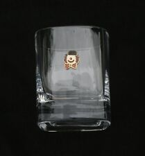 Clown Pair of Crystal Tumblers Pewter Motif Presentation Box Clown Gift 78
