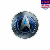 Star Trek Starfleet Ship Logo 4 Stickers 4x4 Inch Sticker Decal