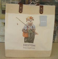 OTTER WAITROSE SHOPPING BAG by HESTON WEIGHT TESTED TO 15KG RIVETTED HANDLES