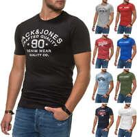 Jack & Jones Herren T-Shirt Print Shirt Kurzarmshirt Top Vintage Logo SALE %