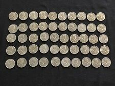 1943 S Steel Wheat Penny Bu Roll (50)coins