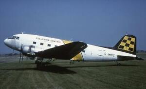 35mm Aircraft Slide Pollution Control G-AMPZ Douglas C-47 Skytrain 1983