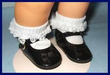 BLACK Patent Doll SHOES for BABY CHATTY CATHY & American Girl U.S.SHIPS FREE