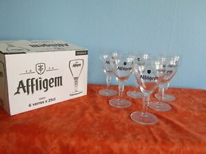 6 Lens With Beer Affligem 25 CL New IN Box Lot With