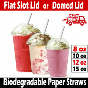 Slush cups  Domed Lids & Flat Lids, Party Cup Glass Milkshake Smoothie