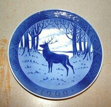 Royal Copenhagen 1960 Christmas Plate The Stag
