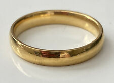 Toned Size 9 Yellow Wedding Band Gold