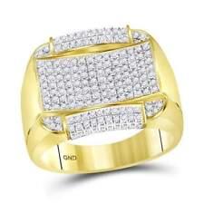 14 kt Yellow Gold  1 CT-DIA MEN RING