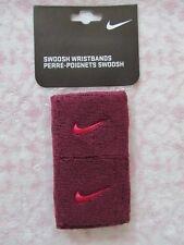 Nike Swoosh Wristbands Deep Garnet/Fuchsia Force Pair
