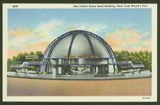 United States Steel Building, New York World's Fair - Lovely Vintage Postcard